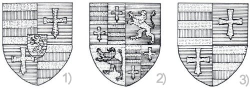 Die drei Hauptformen des Oldenburger Wappens